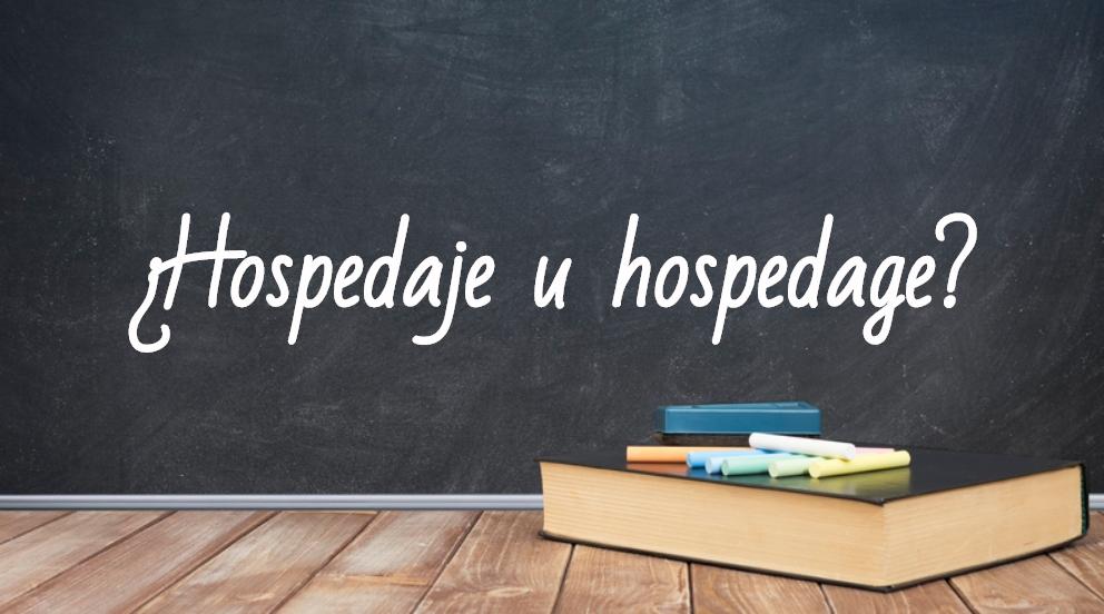 Se escribe hospedaje u hospedage