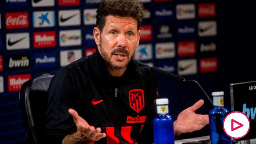 Simeone durante una rueda de prensa. (EFE)