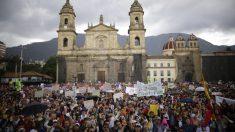 Masiva manifestación en Colombia. Foto: EP