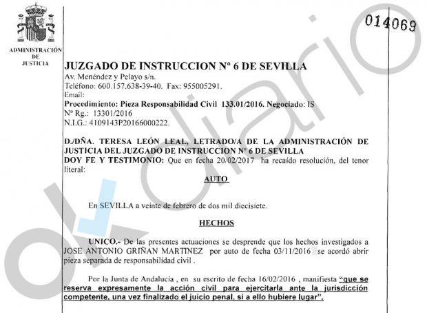 El PSOE blindó en 2017 a Griñán: planeó todo para que no tuviera que devolver el dinero robado en los ERE