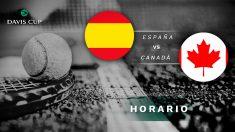 España – Canadá: Horario y dónde ver en directo por TV el partido de tenis hoy de la Copa Davis.