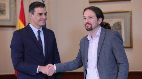 Pedro Sánchez y Pablo Iglesias. Foto_ EP