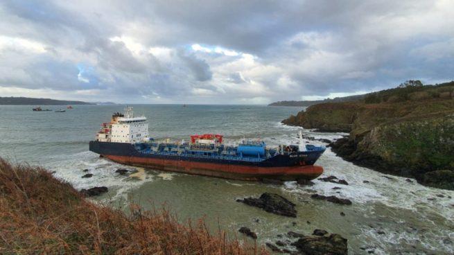 Un buque quimiquero, 'Blue Star'