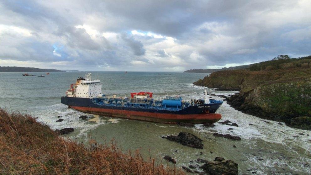 Un buque quimiquero, 'Blue Star'. Foto: EP