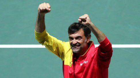 Sergi Bruguera, celebrando una victoria (AFP).