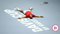 Rafa Nadal celebra la victoria en la Davis. (Getty)