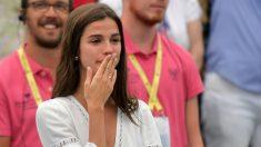 Sandra Gago, pareja de Feliciano López. (AFP)