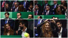 Shakira no respetó el protocolo de un palco presidencial. (AFP)