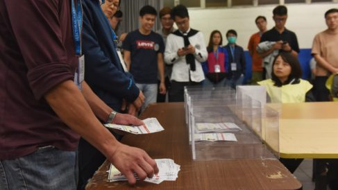 Elecciones locales de Hong Kong. Foto: EP