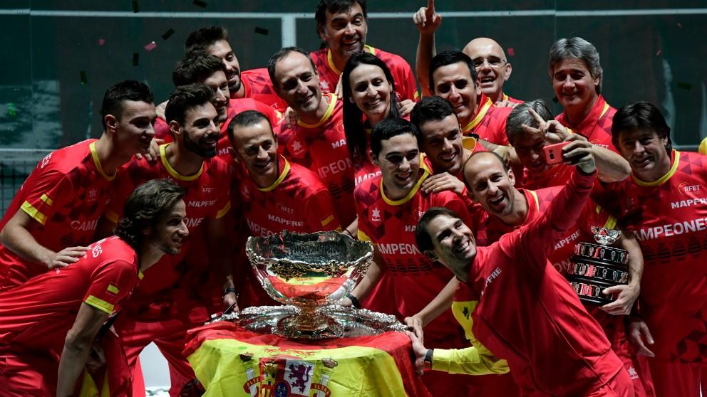 España ganó la nueva Davis de Piqué. (AFP)
