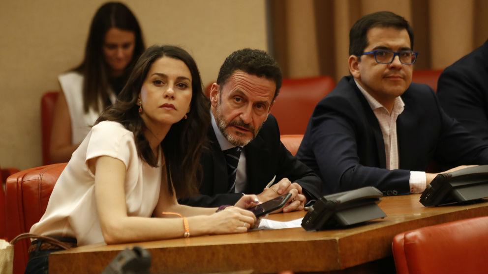 Inés Arrimadas, Edmundo Bal y José María Espejo-Saavedra. (Ep)