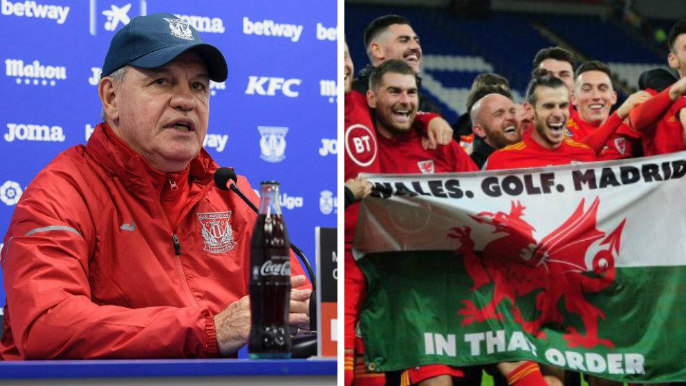 Javier Aguirre y la bandera de Gareth Bale
