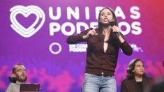 Irene Montero, portavoz de Podemos en el Congreso, durante un mitin de su formación. (Foto: Europa Press)