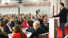 Pedro Sánchez en un Comité Federal con barones autonómicos del PSOE. (Foto. PSOE)