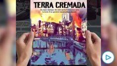Presentación del cómic 'Terra cremada', que muestra una Cataluña en guerra contra las fuerzas militares de España.