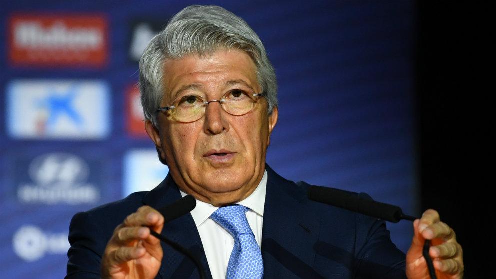 Enrique Cerezo, presidente del Atlético. (AFP)