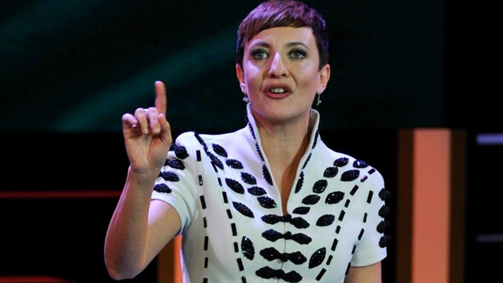 Eva Hache en un momento de la gala de los Premios Goya 2013. Foto: AFP
