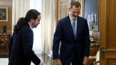 Pablo Iglesias y Felipe VI (Foto: EP)