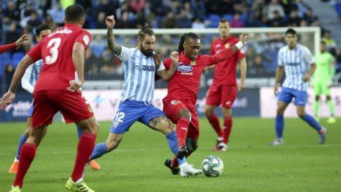 El Málaga en un partido ante el Fuenlabrada (@MalagaCF)