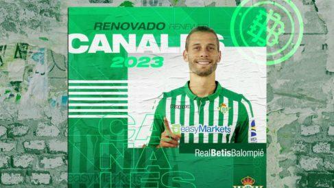 Sergio Canales renueva con el Betis hasta 2023 (Real Betis Balompié)