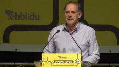Adolfo Araiz, portavoz de Bildu en el Parlamento de Navarra.