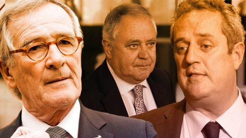 El ex alcalde Xavier Trias, Andreu Viloca y Joaquim Forn.
