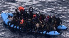Un grupo de inmigrantes rescatados. Foto: EP|Archivo