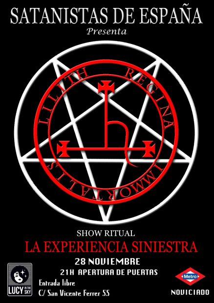 Anuncio del ritual satánico que se va a llevar a cabo en la Universidad Complutense.