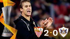 El Sevilla venció al Qarabag en la Europa League. (EFE)