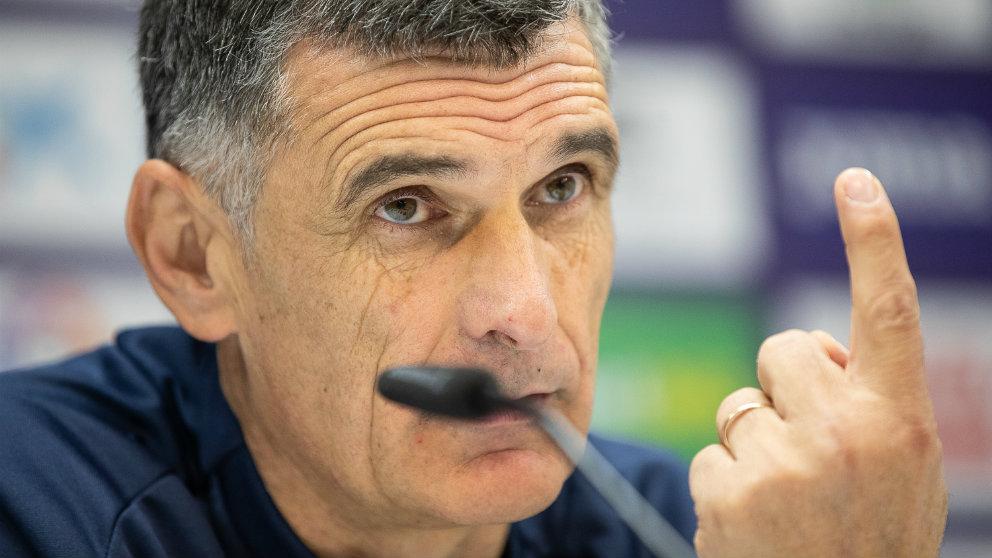 José Luis Mendilibar, entrenador del Eibar, en rueda de prensa (Sociedad Deportiva Eibar)