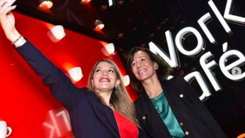 Ana Botín inaugura un Work Café