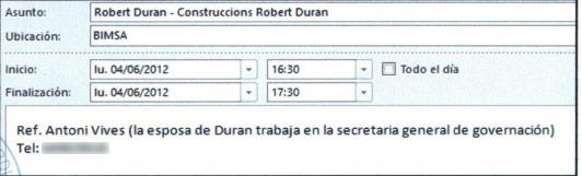 Cita de Antoni Vives y el empresario Robert Durán.