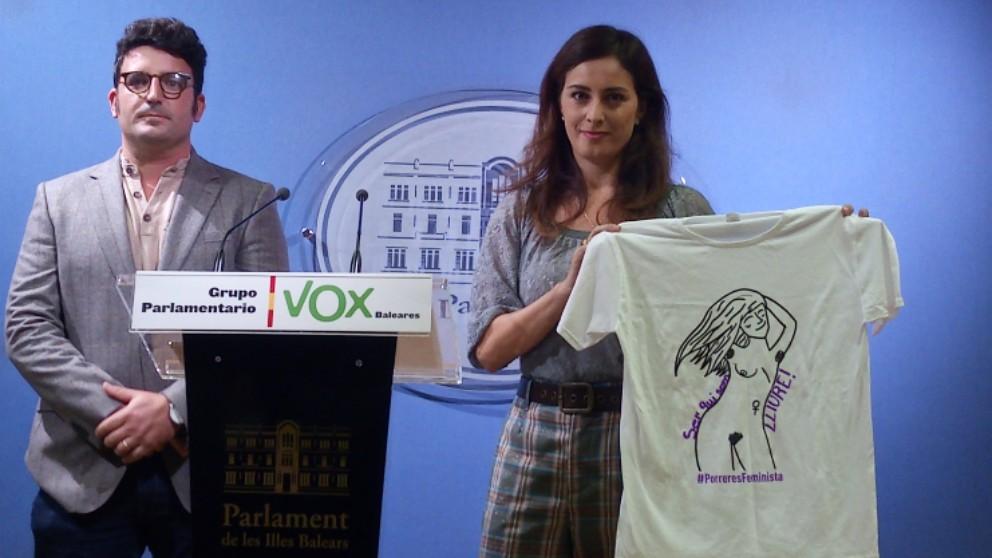 El representante de Vox en el Consell de Mallorca, Toni Gili, y la diputada balear de Vox, Idoia Ribas. Foto: EP