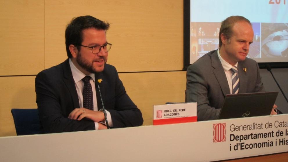 Pere Aragonès y Albert Castellanos. Foto: EP