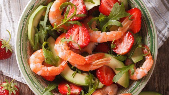 Ensalada de marisco y fresas