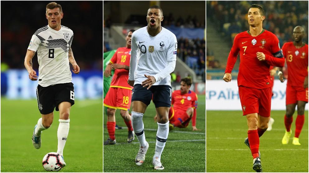 Alemania, Francia y Portugal forman el grupo de la muerte de la Euro 2020. (Getty)