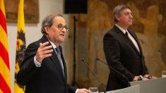 El presidente de la Generalitat, Quim Torra, junto al presidente de Flandes, Jan Jambon. (Ep)