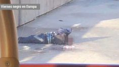 El terrorista abatido.