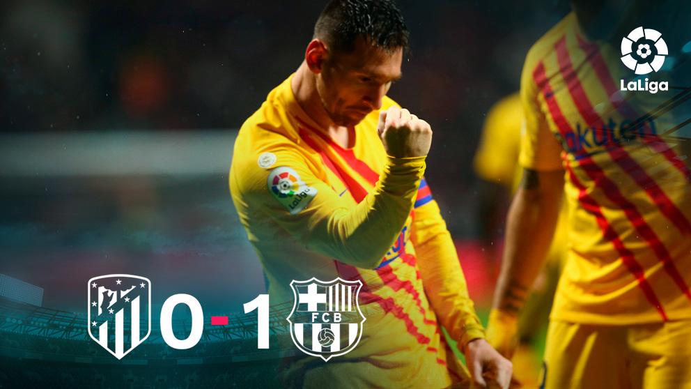 Leo Messi fue el autor del único gol en el Wanda.