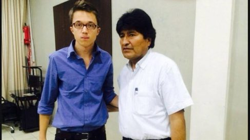 Íñigo Errejón y Evo Morales, ex presidente de Bolivia.