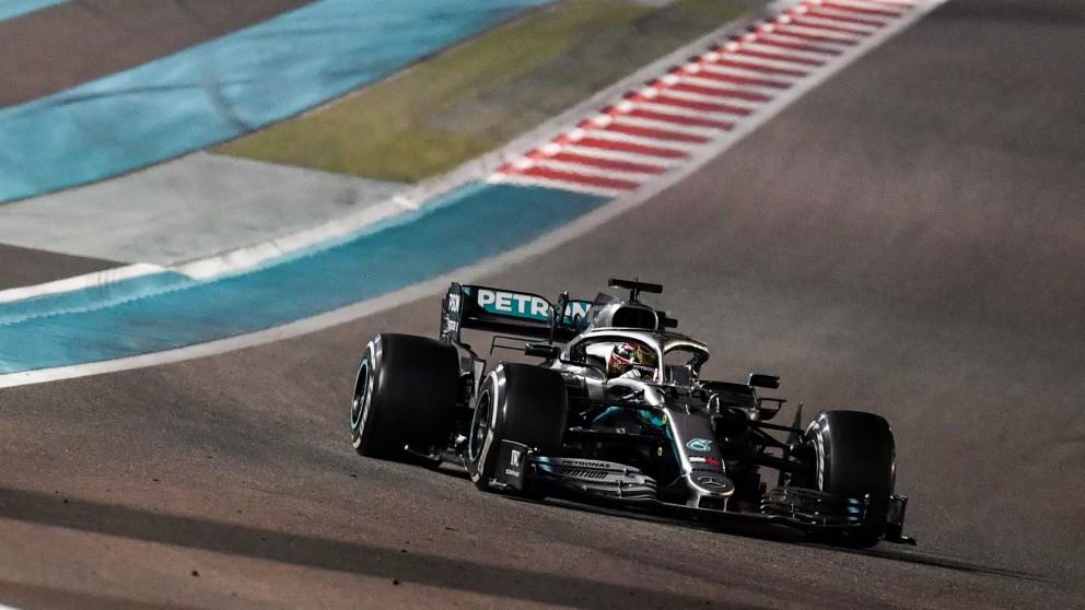 Lewis Hamilton en el GP de Abu Dhabi 2019. (AFP)