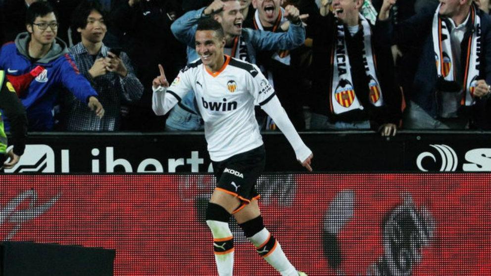Rodrigo Moreno durante un partido con el Valencia. (EFE)