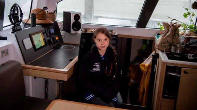 Greta Thunberg, la menor de edad sueca que se ha convertido en el azote del cambio climático. Foto: AFP