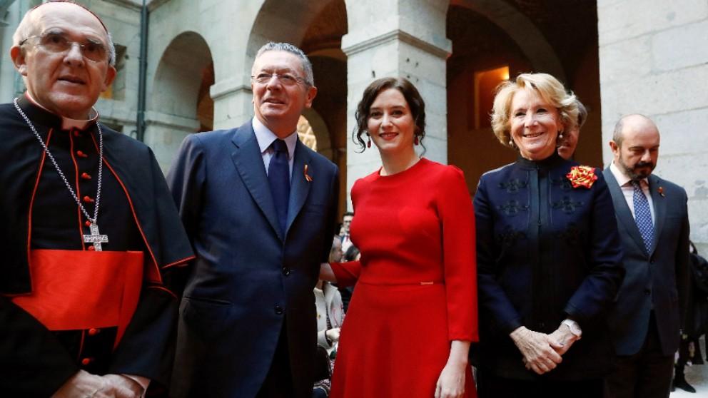 Isabel Díaz Ayuso, Alberto Ruíz Galardón y Esperanza Aguirre. Foto: EP