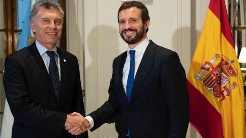 Mauricio Macri y Pablo Casado (Foto: EP)