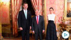 Felipe VI y la Reina Letizia junto al secretario general de la ONU