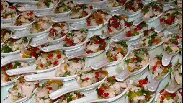 Salpicón de marisco con pollo y aguacate