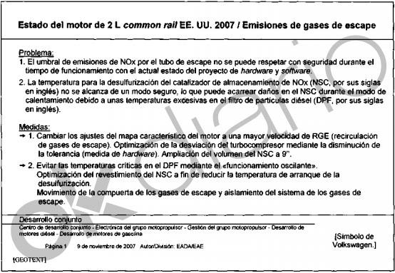 Tres directivos de Volkswagen España conocían el 'Diéselgate' antes de que estallara el escándalo