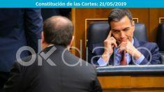 Pedro Sánchez guiñó el ojo a Junqueras y le sonrió de manera cómplice.