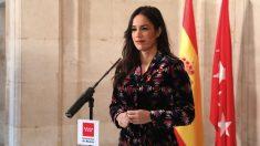 La vicealcaldesa Begoña Villacís en el acto de la Constitución. (Foto. Madrid)